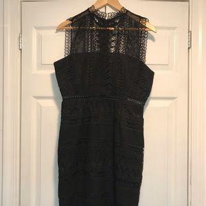 Bardot black Mariana lace dress